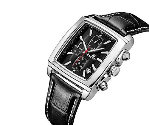bafa5a1fd94a Megir - Reloj De Pulsera Cuadrado Para Hombre