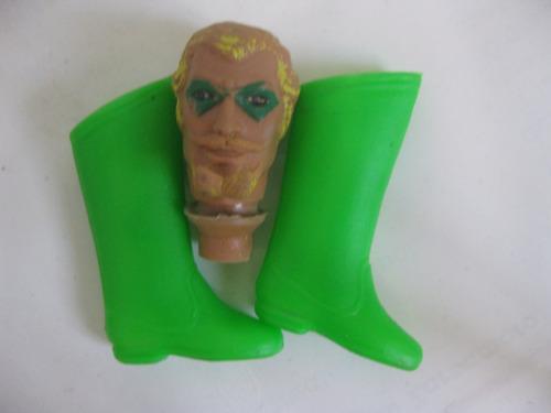mego 8 flecha verde cabeza y botas