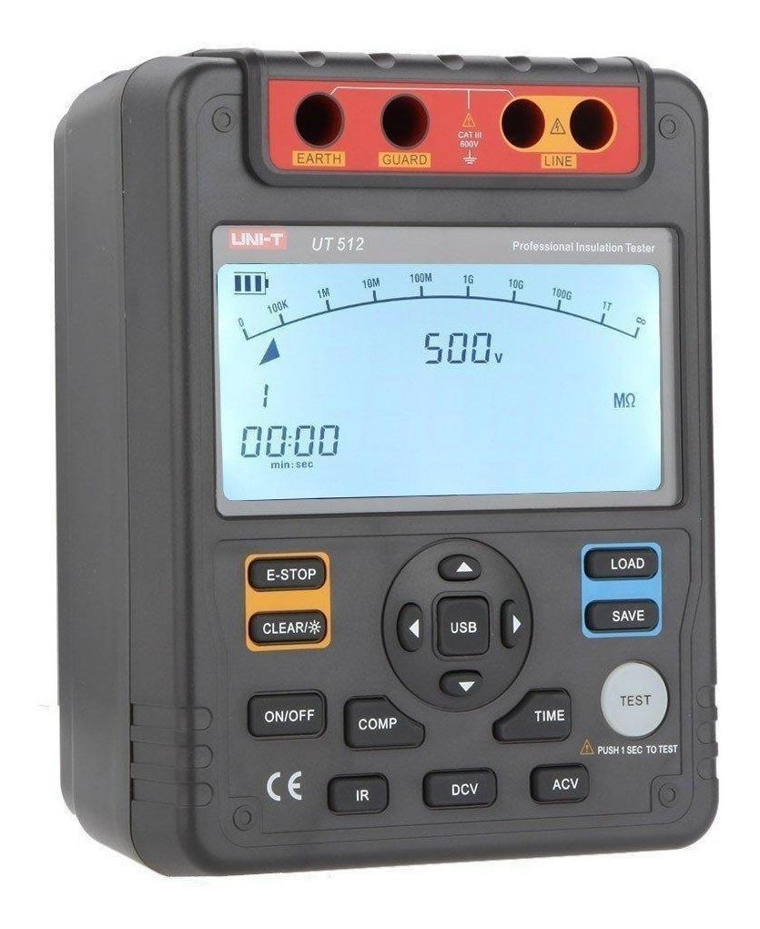 UNI-T UT512 Insulation Resistance Tester 2500V PI DAR  Analog Bar  USB Interface