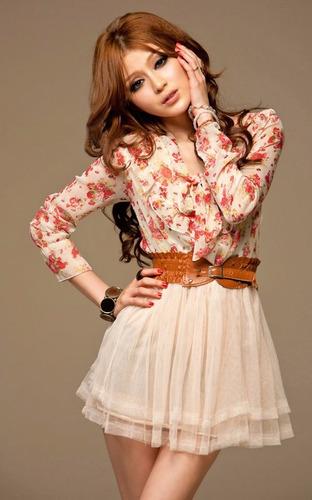 mei fashion / vestido casual / moda coreana / otoño