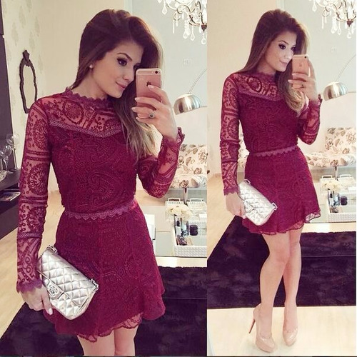 mei fashion / vestido coctel/ moda coreana/ otoño