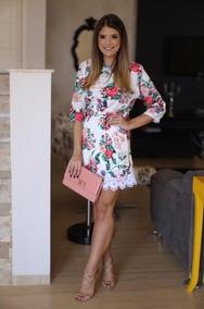 Mei Fashion Vestido Corto Moda Coreana Floreado Encaje