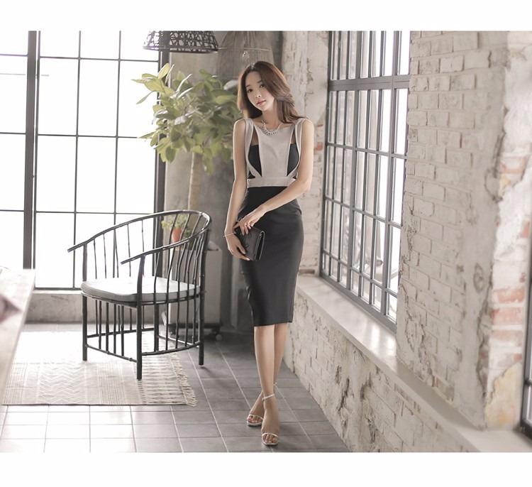 d6d64975b Mei Fashion  Vestido Oficina  Formal  Moda Coreana  Elegante - S ...