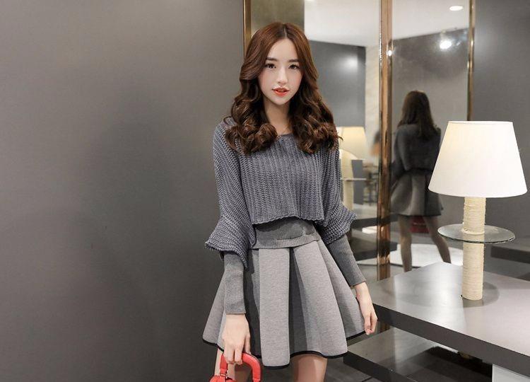46e9969522 Mei Fashion   Vestido Otoño-invierno   Moda Coreana - S  124