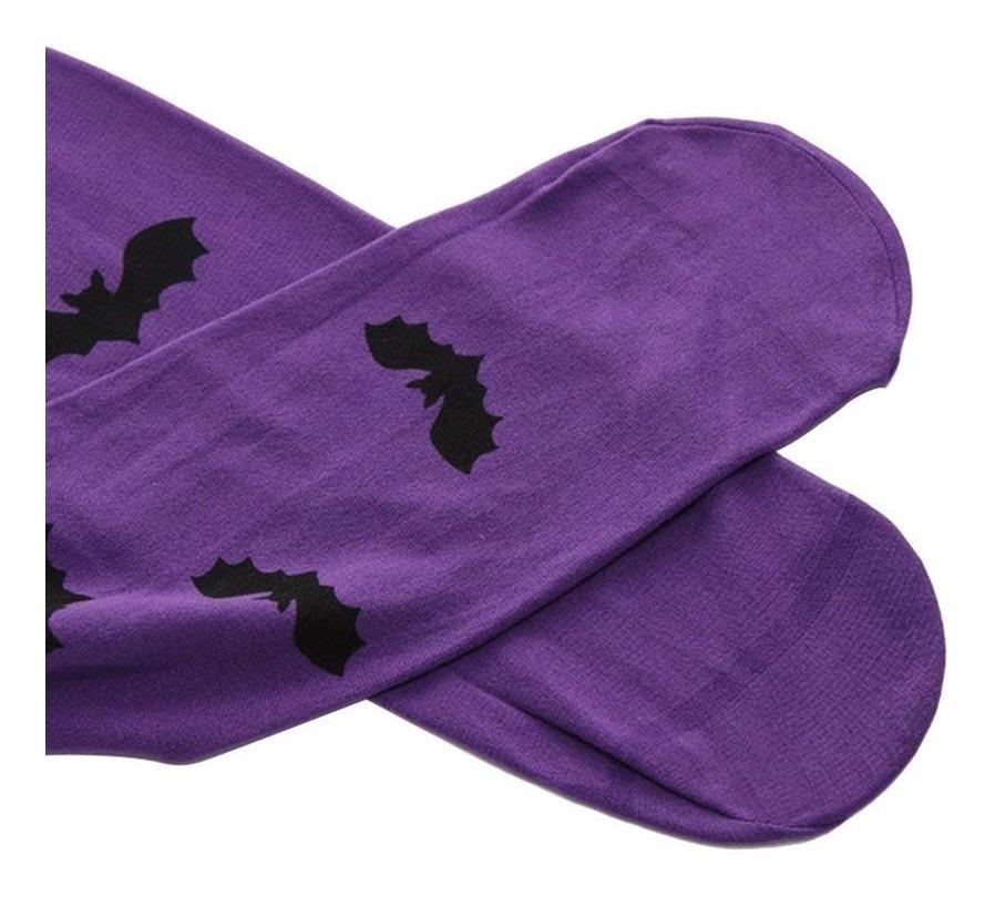 Meia 7 8 Desenho Morcego Lua Bruxa Halloween Cosplay Festa R 69