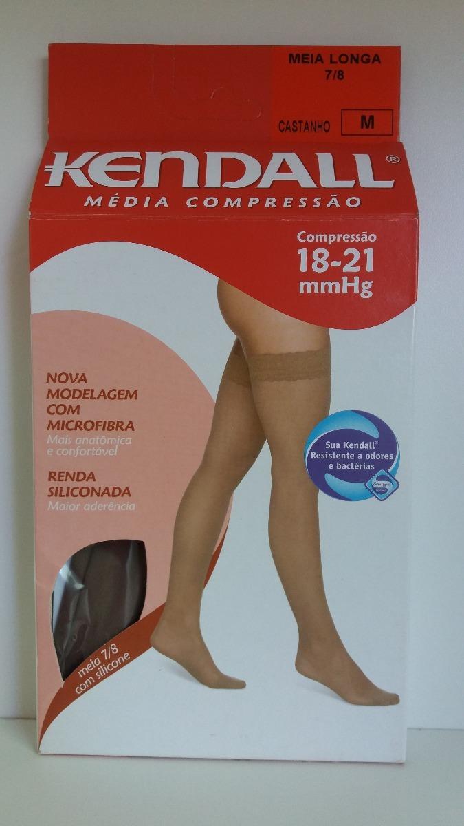 5647bfad3 Meia 7 8 Kendall Média Compress C  Ponteira 18-21 M Castanho - R  69 ...