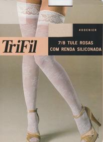 80e794420 Meia 7 8 Com Renda Trifil Branca - Meias no Mercado Livre Brasil