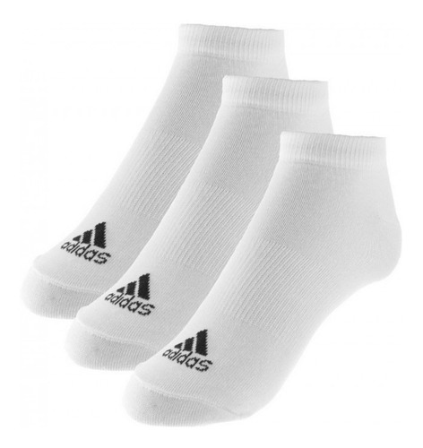 meia adidas cano curto liner thi kit 3 pares original aa2311