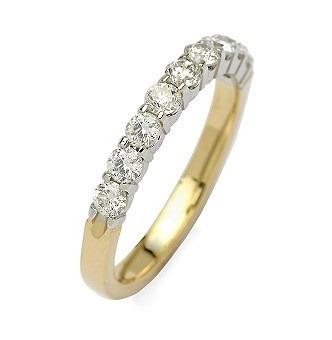 91b118d1752e5 Meia-aliança Em Ouro Amarelo 18 Quilates +diamantes !! - R  2.269,62 ...