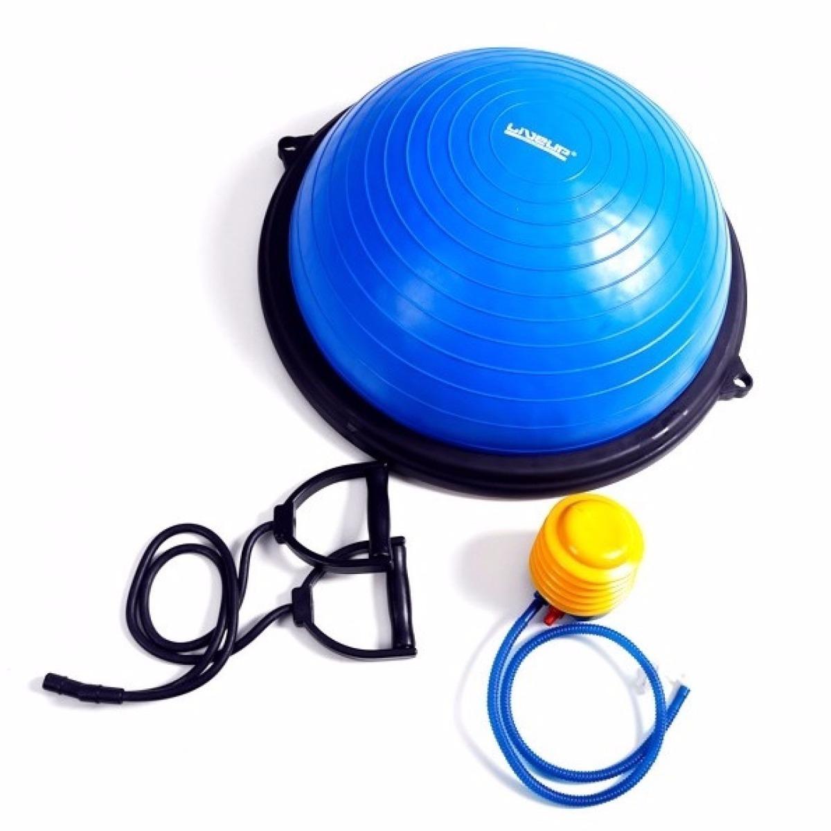 721ce51634f5a meia bola balance bosu suíça + extensor + bomba pilates yoga. Carregando  zoom.