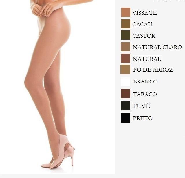 8998ac5d90 Meia Calça Adulto Loba Lupo Essencial Fio 15 Tam Eg Carbono - R  19 ...