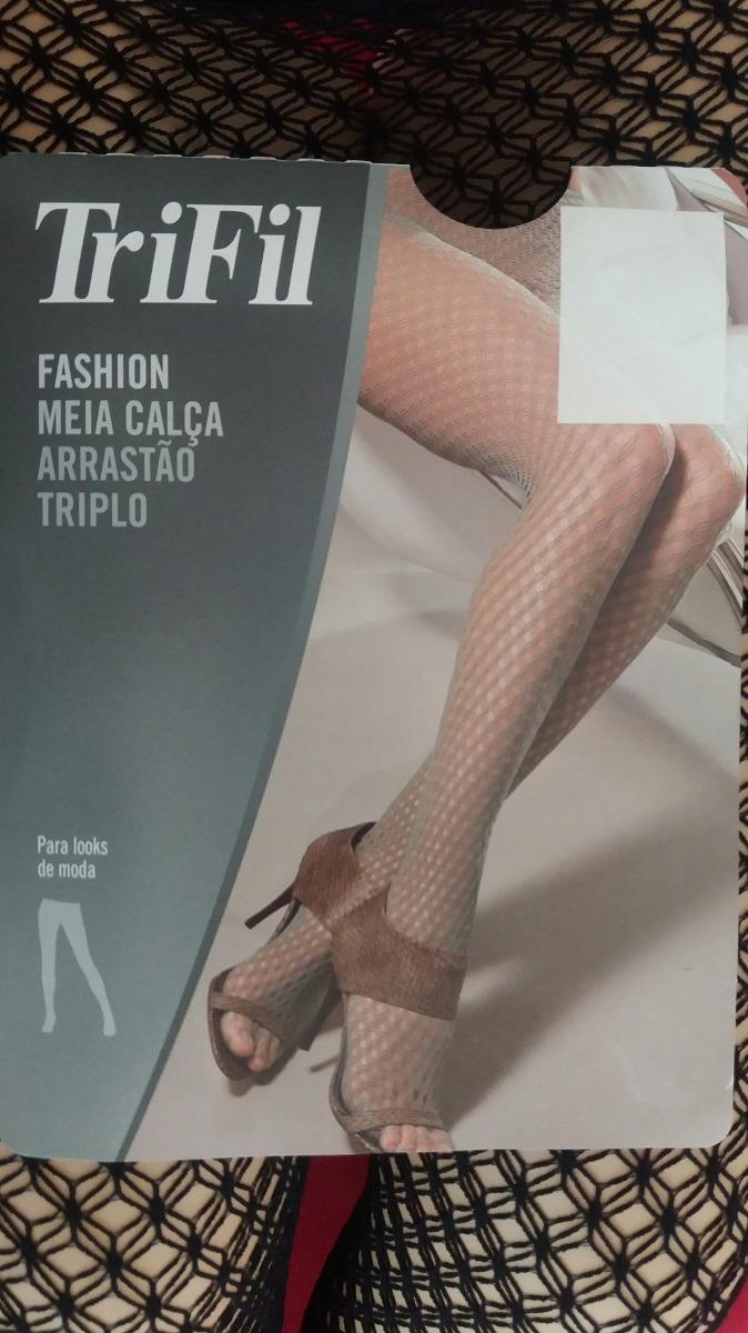 b1cd72915 meia calça arrastão triplo fashion trifil preto. Carregando zoom.