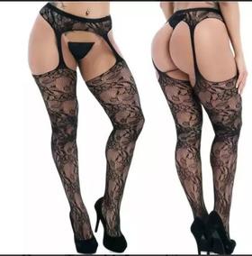 f1371f735 Meia Calca Sexy Desenhada Vazada Cintas Liga - Moda Íntima e ...