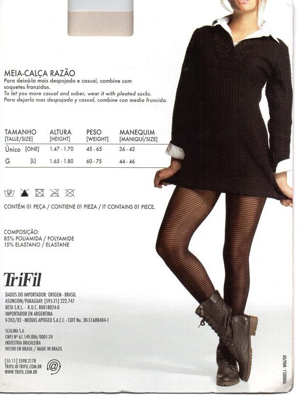 bdf734567 meia-calça fashion fio 30 trifil listras horizontais. Carregando zoom.