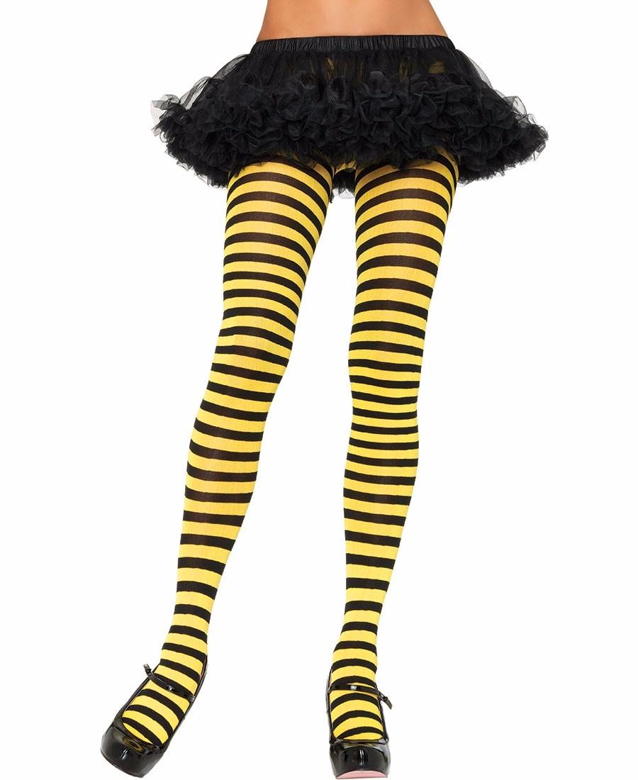 a567a8acd meia-calça fashion listrada preta amarela leg avenue abelha. Carregando  zoom.