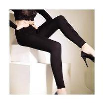 meia calça importada fibra de bambu - sem pezinho cor marrom