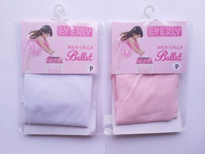 eb98308d1 Meia Calça Infantil Branca Rosa Fio 40 Everly - R  14