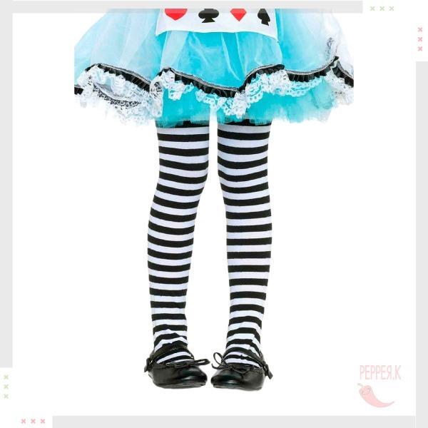 Meia Calça Infantil Listrada Preta E Branca 4 A 8 Anos - R  40 339ce7facf8