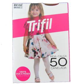 19f82a22a 06 Meias Calças Infantil Trifil Fio 50 Canelada Bebê Atacado