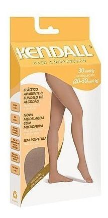 meia calça kendall alta compressão sem ponteira 30mmhg p/gg