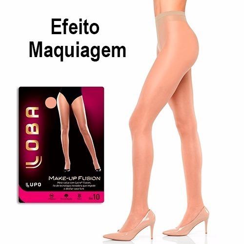 5ad02048c Meia Calça Loba Lupo Make-up Fusion Fio 10 Nude Tam M Kit C2 - R  59 ...