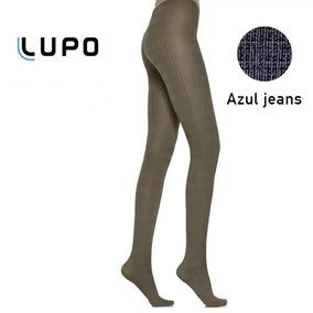 6b38db1bb Meia Calça Lupo Loba Prince Azul Jeans Fio 70 5811 Grossa