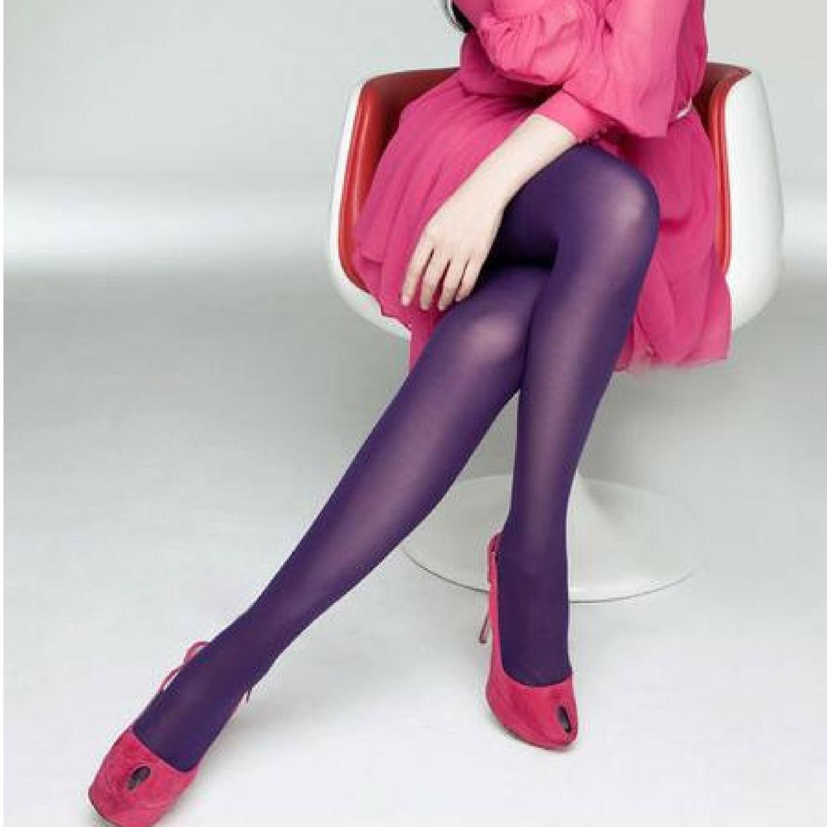 37813af2c meia calça lupo fio 40 roxa colorida promoção de inverno. Carregando zoom.