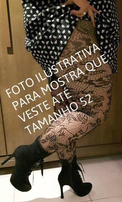 75984eb04 Meia Calça Plus Size Preta De Renda Eg Veste 48 Ate 52 - R$ 35,00 em ...