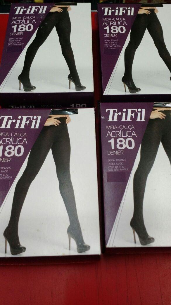 71a1df7d0 meia calça trifil fio 180 acrilica preta tamanho p. Carregando zoom.