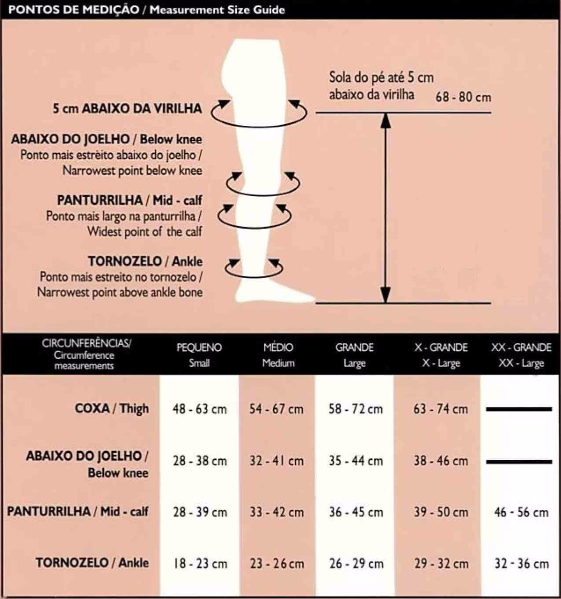 Resultado de imagem para tabela medida venosan