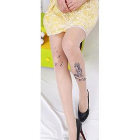 1c2d8a2fc Meia Calça Fake Tattoo Tatuagem Transparente Morcegos Gótica. São Paulo · Meia  Calça Transparente Estampa Tatuagem Sereia Mermaid