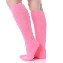 meia feminina academia até o joelho, aeróbica, kit 10 pares