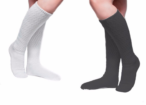 meia feminina academia até o joelho, aeróbica, kit 5 pares