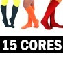meia feminina até o joelho, aerobica, kit 24 pares