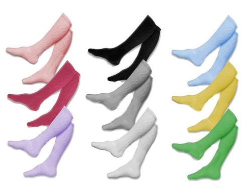 meia feminina neon até o joelho, aeróbica, kit com 6 pares