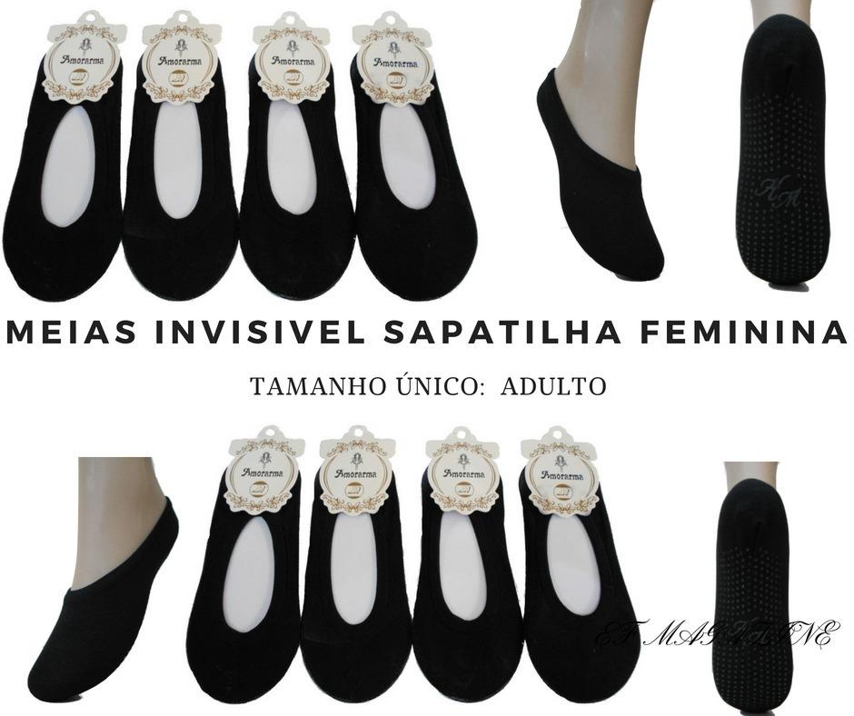 5ad1ebdc45 meia invisível soquete sapatilha feminina kit 50 pares. Carregando zoom.