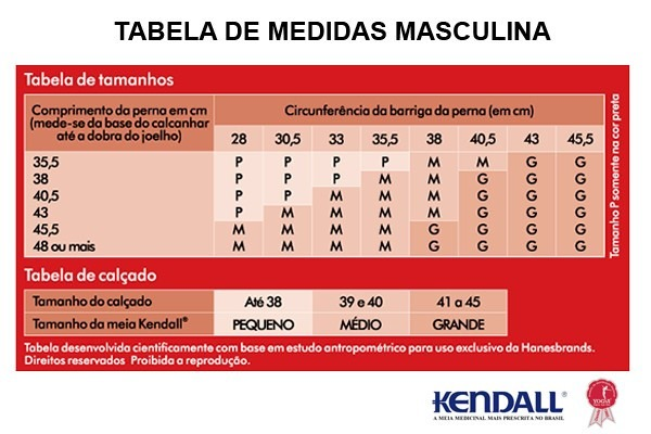80a63b723 Meia Kendall 7 8 Média Compressão Masculina - R  120