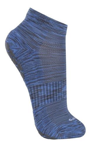 meia lupo antiderrapante práticas desolo pilates mescla azul