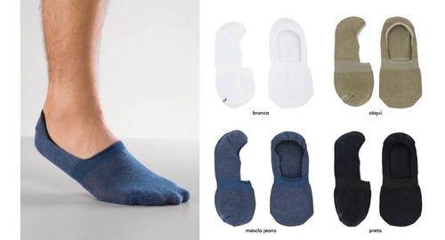 meia lupo sapatilha invisível adulto cáqui - original