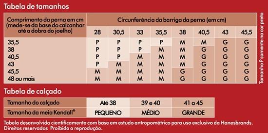 68030d649 Meia Masculina 3 4 Média Compressão Marinho G Kendall - R  94