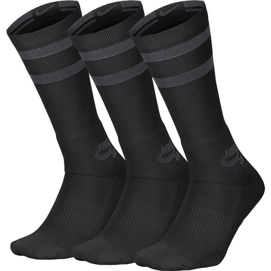 meia nike sb crew socks cano alto preta - 39-43. Carregando zoom. 3bc708a4de483