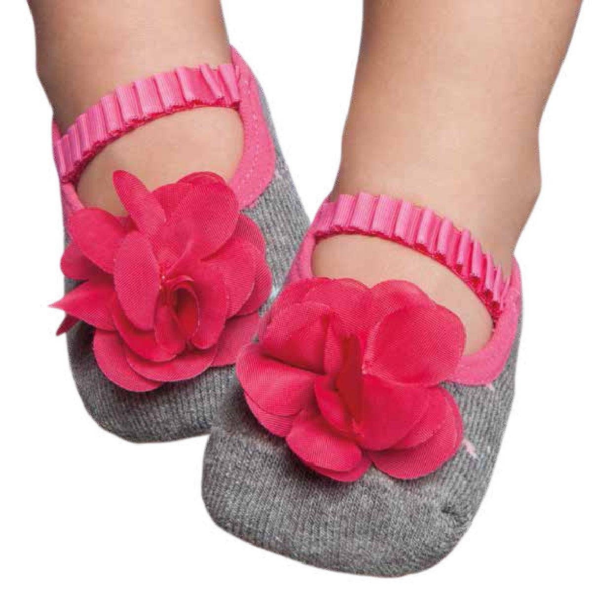 af461a5c8 Meia Sapatilha Para Bebê Flor Pink - Puket - R  41