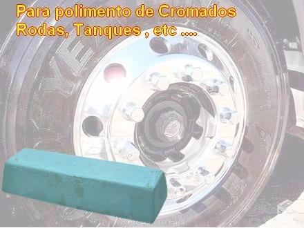 meia pedra azul p/ polimento de roda e tanque de alumínio