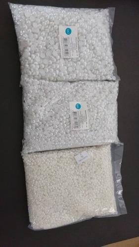 meia pérola abs com furo  6, 8 e 10 mm 500 gramas promoção