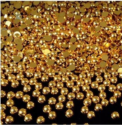 meia perolas dourada e prata pacote com 100 unidades 1,5 mm