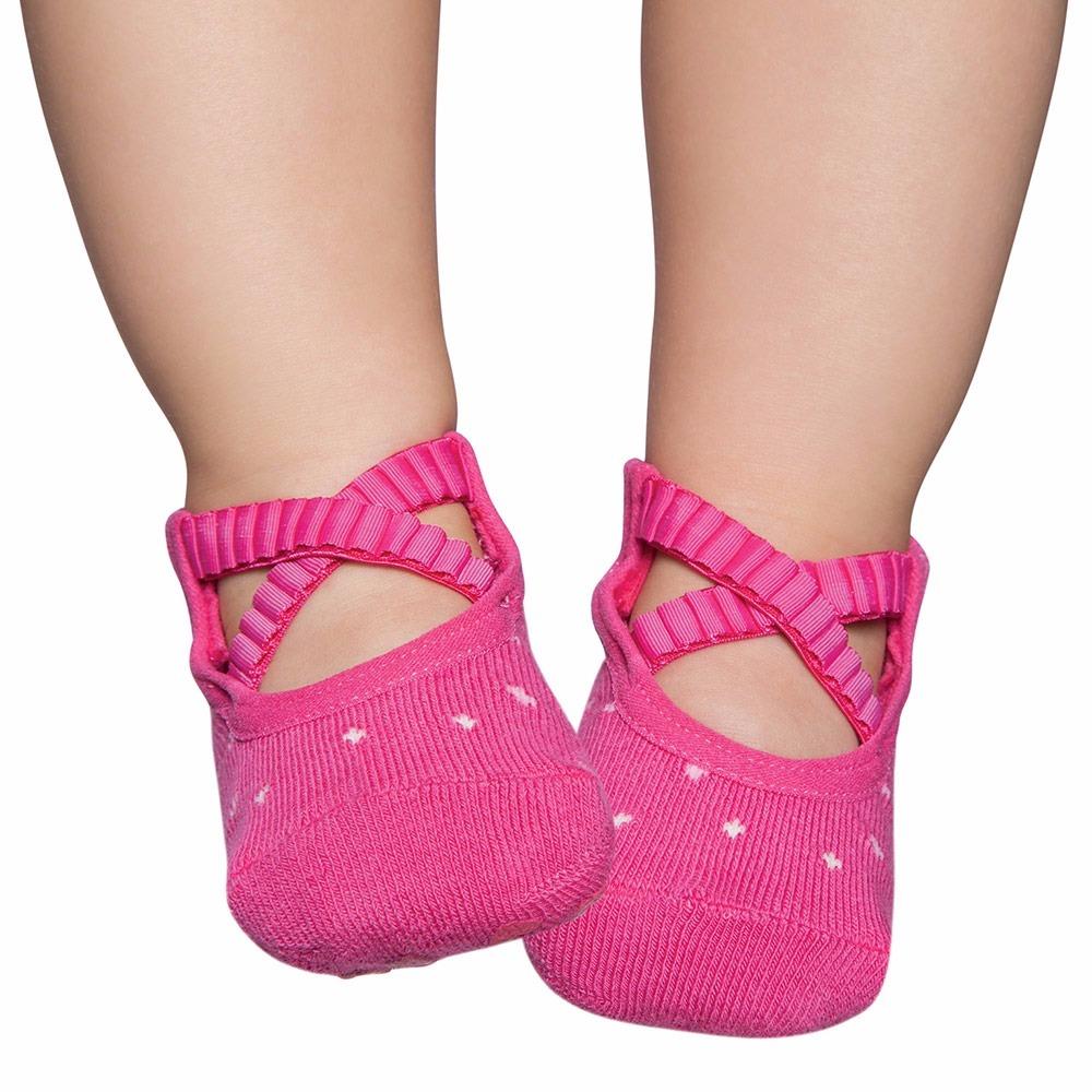 4bf843f2b meia sapatilha ballet pink 1-2 anos puket antiderrapante. Carregando zoom.