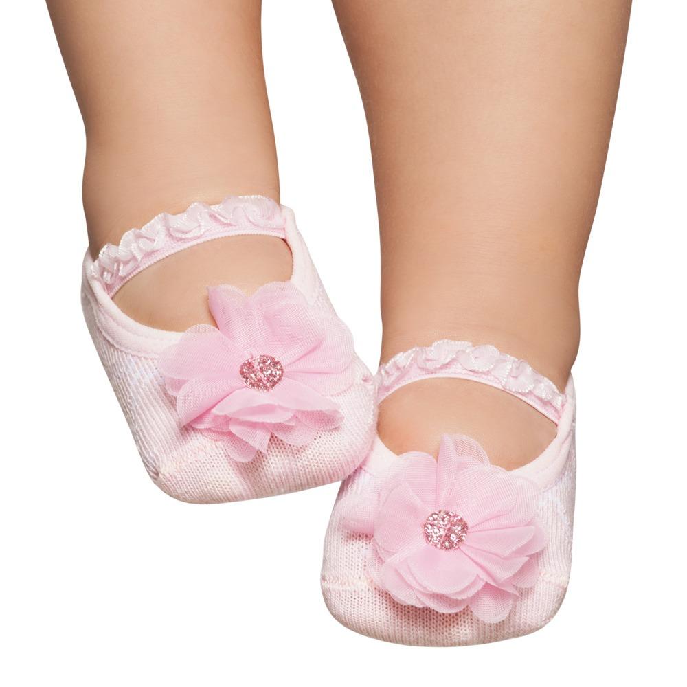 e7fdd9450 meia sapatilha flor rosa brilhante puket 0-12 meses. Carregando zoom.