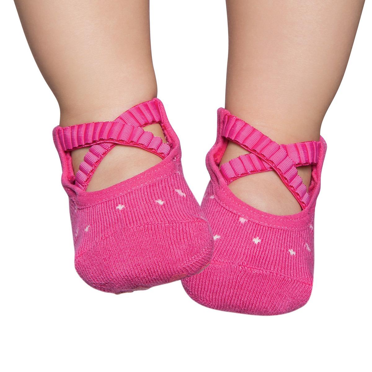 739a7eb710 meia sapatilha para bebe ballet pink - puket. Carregando zoom.