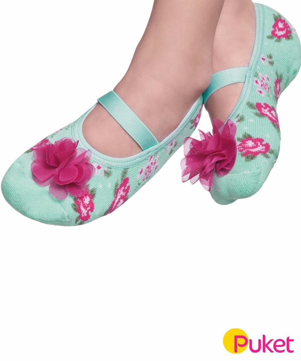 a0ad82388 meia sapatilha puket antiderrapante floral 15 a 18- puket. Carregando zoom.