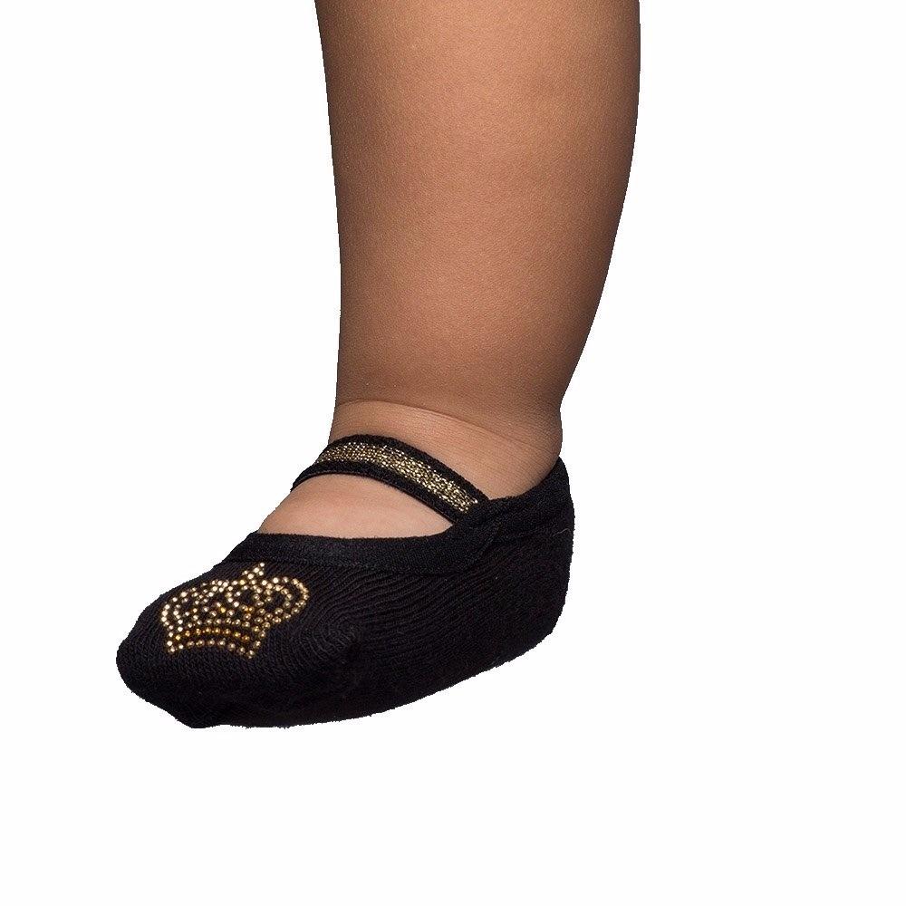 e41e58310 meia sapatilha puket com aplique coroa - antiderrapante. Carregando zoom.